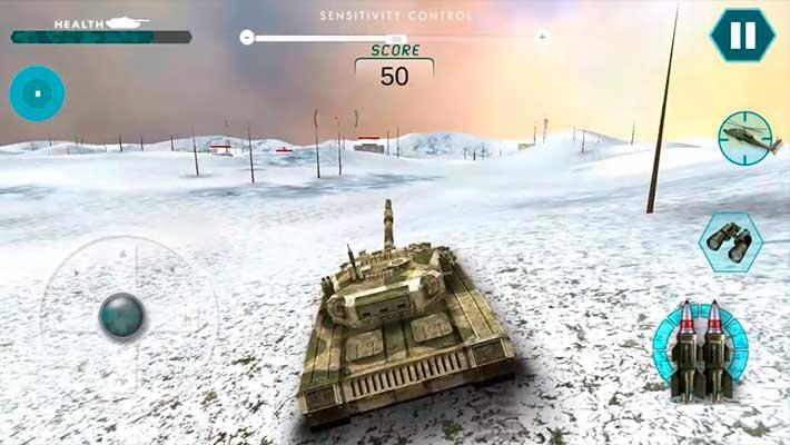 Real Battle of Tanks 2018: Army World War Machines - танк трясет