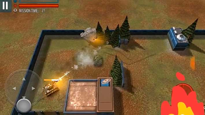 Tank Battle Heroes: Modern World of Shooting - зрелищные спецэффекты