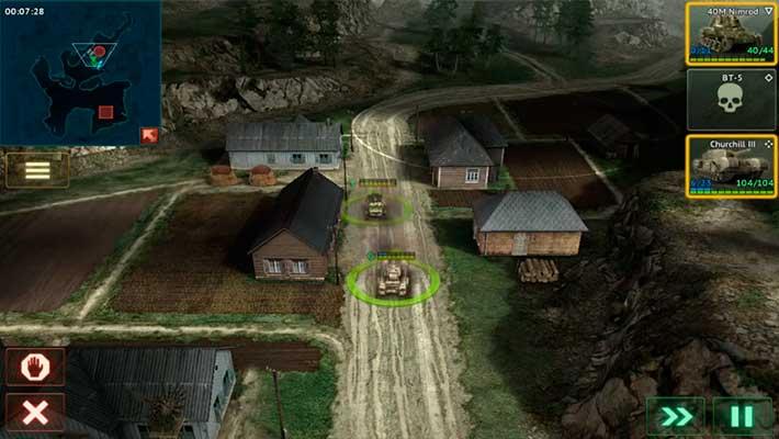 Armor Age: Tank Wars - едем через город