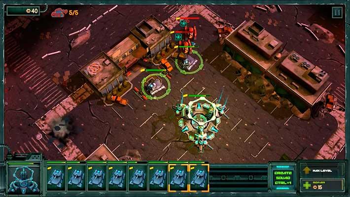 Tanks vs Aliens - найм юнитов в командном центре