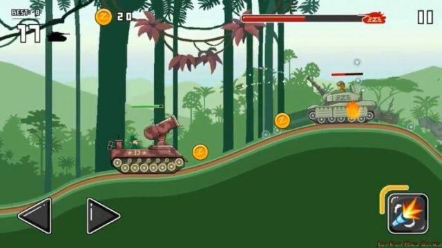 Funny Tanks – веселый танковый платформер для Android