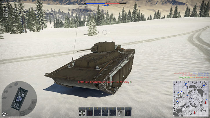 как стрелять из танкового пулемета в war thunder