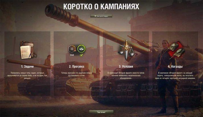 Справка по кампаниям в игре